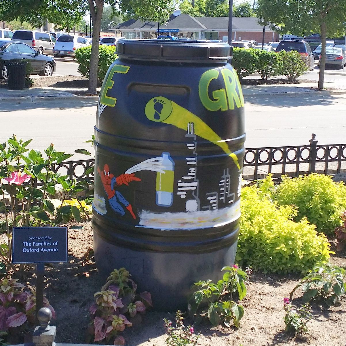 A Painted Rain Barrel