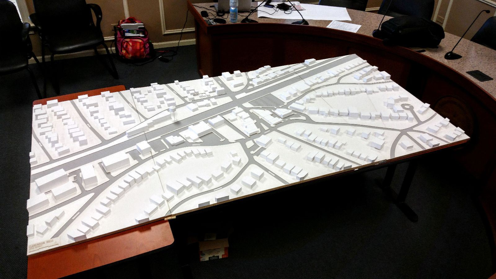 A Working Model of Downtown Clarendon Hills