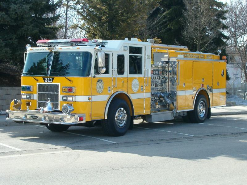 The yellow Fire Truck Number 311