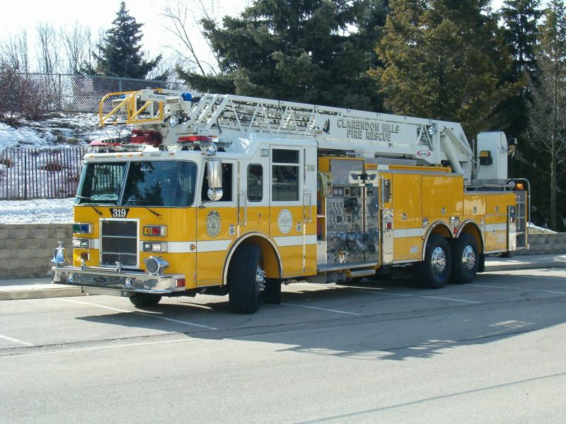The yellow Fire Truck Number 319
